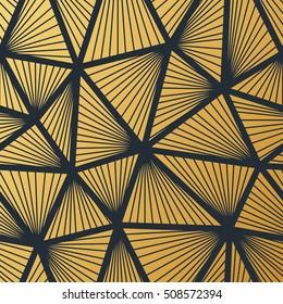Art Deco seamless vintage wallpaper pattern. Geometric decorative background.
