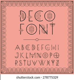 Art Deco style lettering in pink
