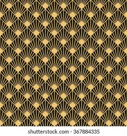 Art Deco style seamless pattern texture.