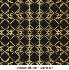 Art Deco style seamless pattern texture