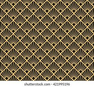 Art Deco style seamless pattern texture.