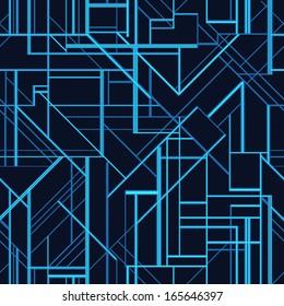 Art deco style vector geometric pattern.