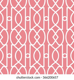 Art Deco Trellis Pattern Seamless Vector Background Tile