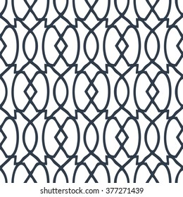 Art deco trellis pattern seamless vector background tile