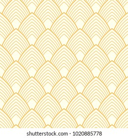 Art Deco vector seamless pattern. Vintage geometric texture. Good for wrapping paper, web page background, textile, party and wedding invitation, greeting card.