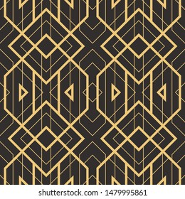 Art Deco vector semless pattren. Vintage decorative geometric background, wallpaper, etc.