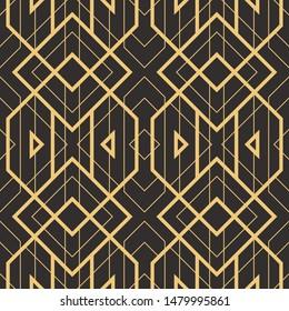 Art Deco vector semless pattren. Vintage decorative geometric background, wallpaper, etc.