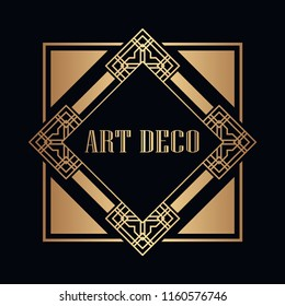 Art deco vintage badge logo design vector illustration