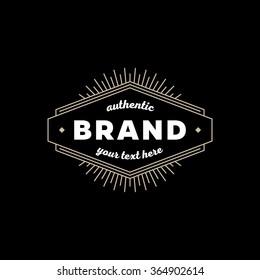 Art deco vintage golden frame. Hipster geometric vector design.  Stylish monogram emblem template. Elegant frame sign for Royal sign, Restaurant, Boutique, Cafe, Hotel, Heraldic, Jewelry, Fashion.