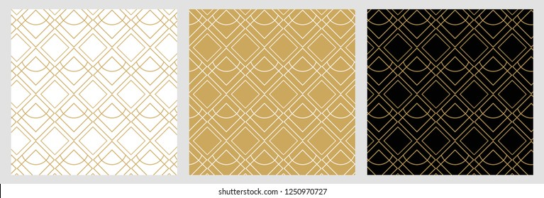 Art Deco vintage seamless pattern surface