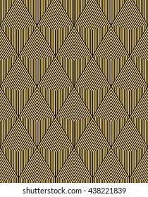 Art Deco vintage wallpaper pattern.