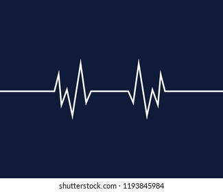 Art design health medical heartbeat pulse vector template