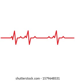 Art design health medical heartbeat pulse vector template