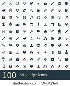 art, design Icons Vector set