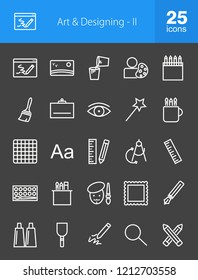 Art & Designing Line Inverted Icons