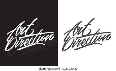 Art Direction hand lettering is perfect to application for card, banner, poster and other brand. You can't edit the text cause it's vector, but you can change the color and size easily. - Shutterstock ID 1027170439