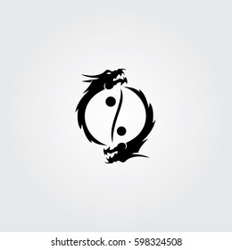 the art dragon icon logo