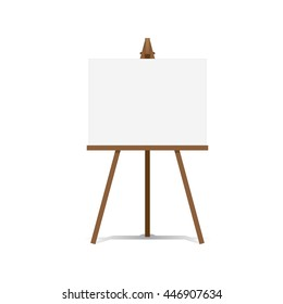 Art Easel and blank canvas space ready for your advertising and presentations illustration vector.