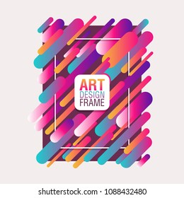 Art Frame Design, abstract background for greeting card