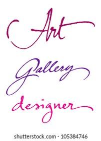Art. Gallery. Designer. -  original handwritten calligraphy for your logo, poster, ad or website