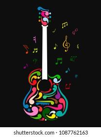 Art guitar, sketch for your design