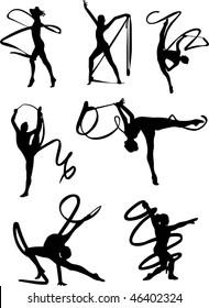 Art gymnastics set vector
