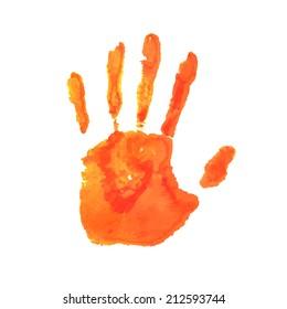 Art hand paint. Vector illustration