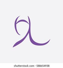the art hijab  icon logo beauty