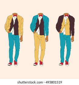 Art of hipster clothes