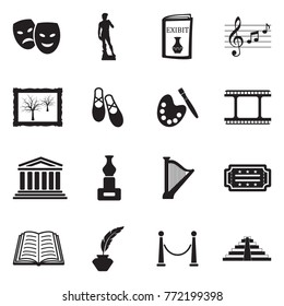 Art Icons. Black Flat Design. Vector Illustration.