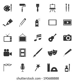 Art icons on white background, stock vector