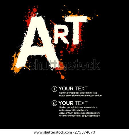 art letters paint splatters template poster stock vector royalty