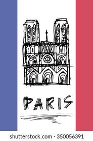 Art Notre Dame sketch