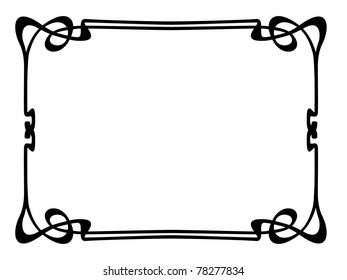 art nouveau border images stock photos vectors shutterstock rh shutterstock com art deco page border vector free art deco frame vector free download