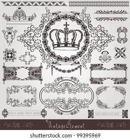 art nouveau royal label banner