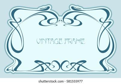 Art nouveau. Vintage frame. Vector isolate element.