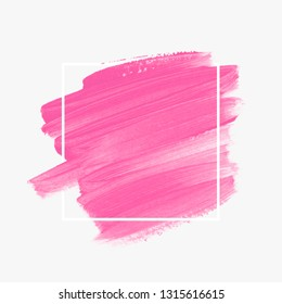 Art paint abstract background. Brush stroke texture design poster vector over square frame. Perfect watercolor design for headline, logo and sale banner.