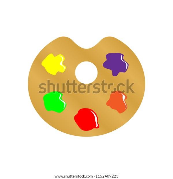 Art palette vector icon illustration