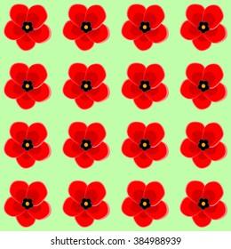 Art poppy flower back pattern seamless stock vector royalty free art poppy flower back pattern green mightylinksfo
