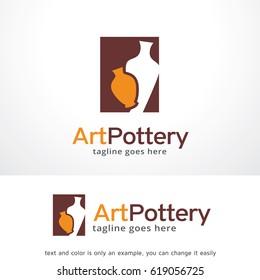 Art Pottery Logo Template Design Vector, Emblem, Design Concept, Creative Symbol, Icon