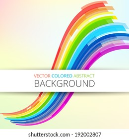 Art rainbow abstract vector tech design background with text place