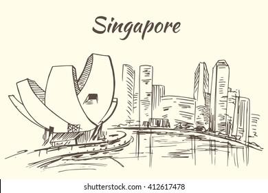Art Science museum and Marina Bay - Singapore