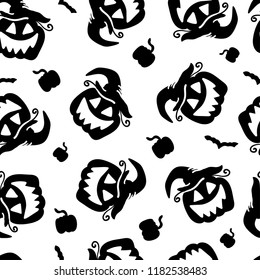 Art seamless pattern for Happy Halloween background. Design template for flyers, posters,ecards, invitations, brochures,etc. Creative style. Vector illustration
