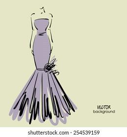Dress Sketch Images Stock Photos Vectors Shutterstock