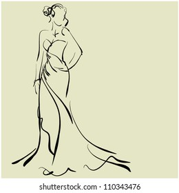 asian-girl-in-a-skirt-sketch