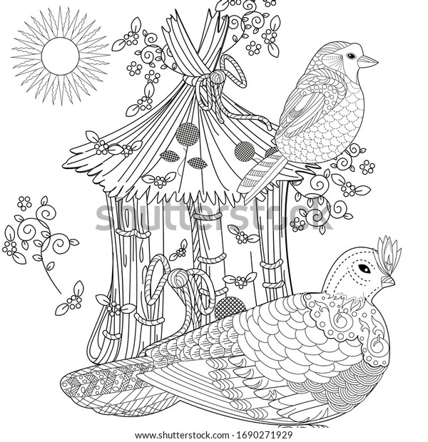- Art Therapy Coloring Page Coloring Book Stock Vector (Royalty Free)  1690271929