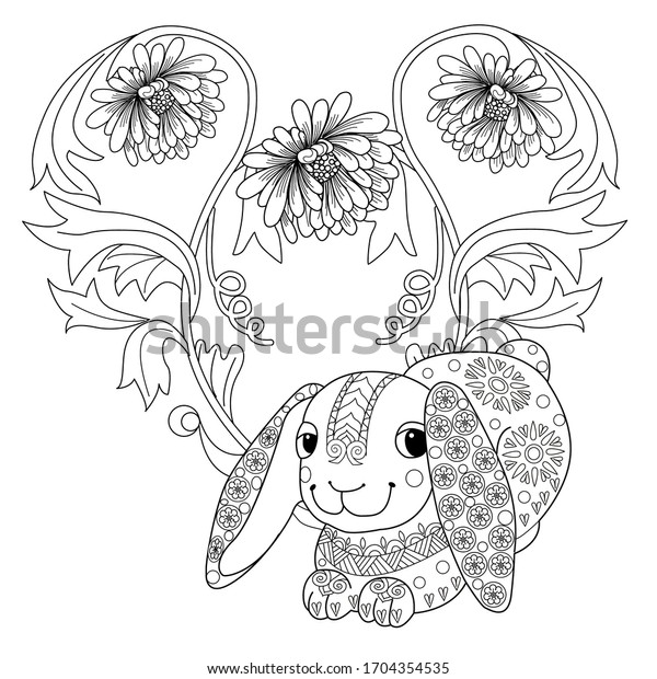 Art Therapy Coloring Page Coloring Book Stock Vector (Royalty Free)  1704354535