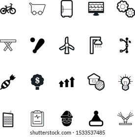 art vector icon set such as: hit, automatic, gardening, city, streetlight, care, natural, security, spring, store, defense, field, spray, new, wave, mechanism, dart, solution, point, construction