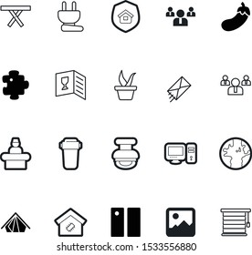 art vector icon set such as: decor, envelope, a, delivery, email, wine, glass, growth, high, website, chair, media, fitness, fresh, window, approve, desk, glyph, photograph, life, globe, purple