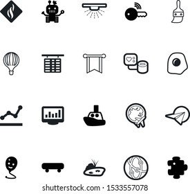 art vector icon set such as: eggs, inflate, map, food, car, pond, android, natural, flag, worldwide, departure, aircraft, location, scrambled, paint, creativity, planet, utensil, sprinkler, cyborg